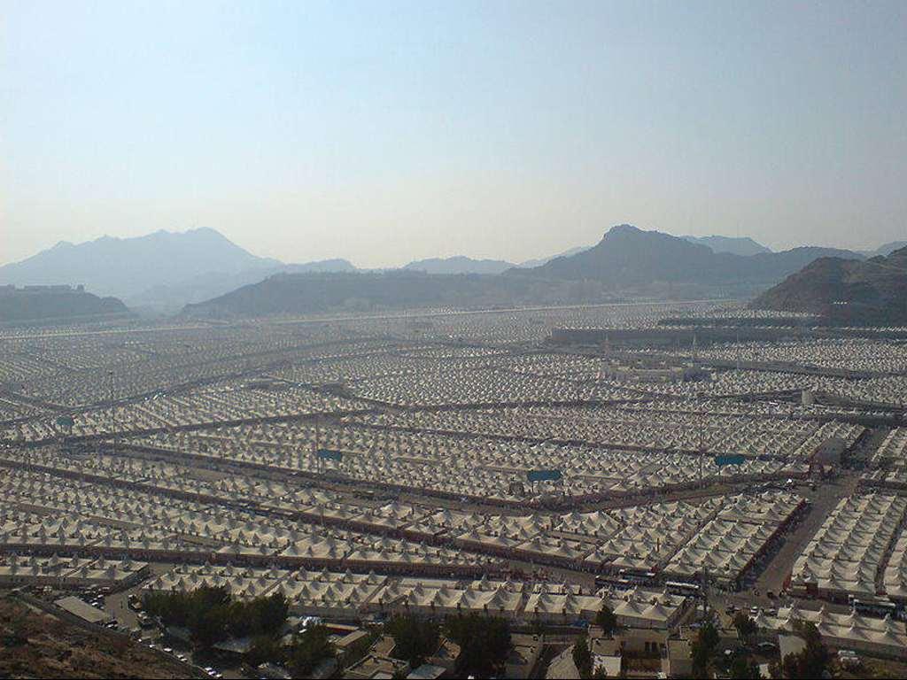Pictures of Mina in Saudi Arabia