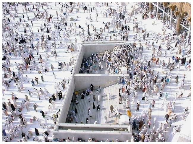 Pictures of the Zam Zam well near the Kaaba